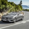 Mercedes-Benz S-Class Cabriolet silver exterior driving official